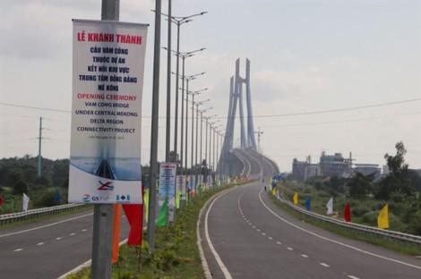 Cầu Vàm Cống chính thức thông xe, rút ngắn tối đa 2 giờ hành trình