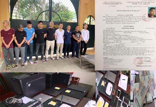 Triet pha duong day danh bac 4.000 ty dong bang game bai doi thuong tren mang
