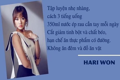 Hariwon tiét lọ ché dọ an kieng giảm can duy trì vóc dáng