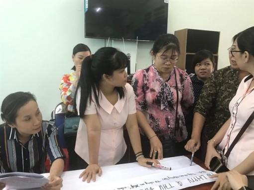 Tập huấn quy trình tham gia giải quyết các vụ việc liên quan đến phụ nữ và trẻ em cho cán bộ Hội
