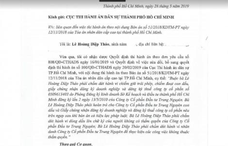 Bà Lê Hoàng Diệp Thảo nói gì về con dấu của công ty Trung Nguyên?