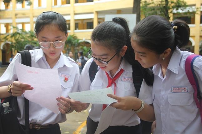 Tuyen sinh lop 10 tai TP.HCM: Hon 46.000 thi sinh co diem tieng Anh duoi trung binh