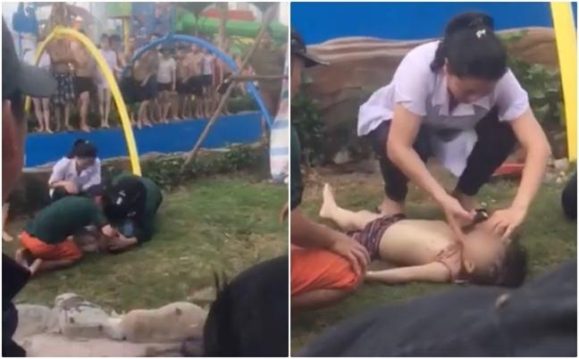 Ha Noi: Nguyen nhan khien mot chau nho tu vong tai cong vien nuoc moi khai truong