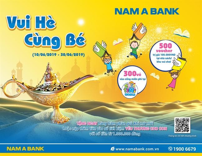 Gui tiet kiem, rinh qua cho be yeu tai Nam A Bank