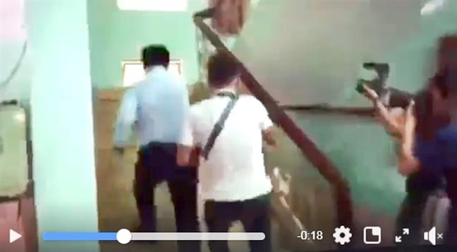 Vu Nguyen Huu Linh tai toa an quan 4: Khi phong vien truy duoi va bi cao chay tron