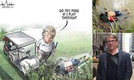 Họa sĩ biếm 'gặp họa' vì tranh vẽ Tổng thống Trump