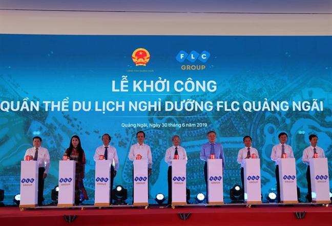 Chua khoi cong, FLC Quang Ngai da ram ro rao nhan dat coc du an