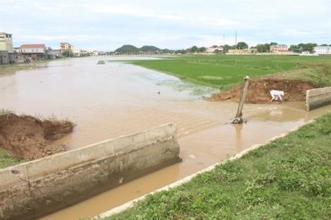 Vỡ bờ kênh trong mưa, hàng chục ha lúa và hoa màu bị nhấn chìm sau cơn 'đại hạn'