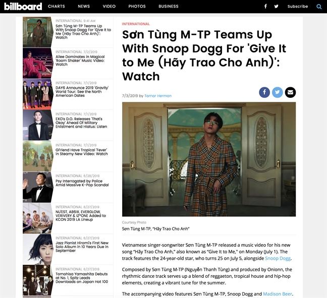 Dat nhieu ky luc, Son Tung M-TP da vuon tam quoc te?