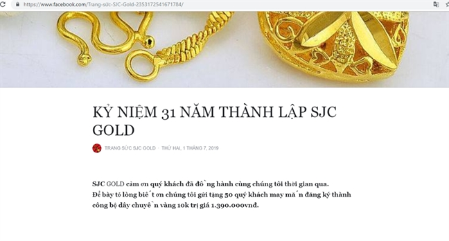 Sau khi bi lam gia vang mieng, SJC bi nhai website giao dich