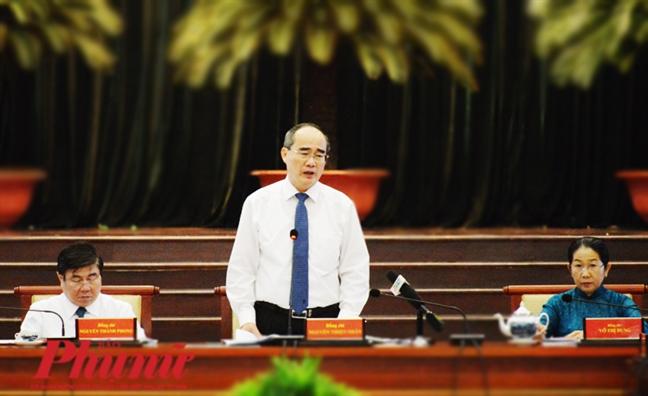 Bi thu Thanh uy TP.HCM Nguyen Thien Nhan: 'O dau co to chuc dang thi o do khong the co vi pham'