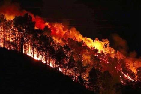 Ngọn lửa lại bùng phát dữ dội, hàng trăm người dân Hà Tĩnh trắng đêm ứng cứu