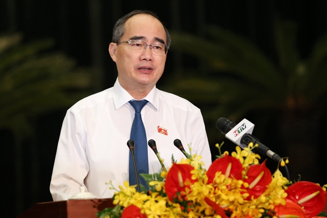 Bi thu Nguyen Thien Nhan yeu cau tap trung lap lai trat tu xay dung