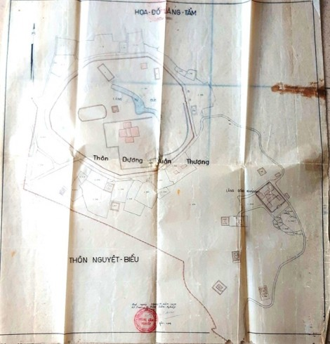 Lộ diện tấm bản đồ chỉ rõ vị trí mộ phi tần của vua Tự Đức đã bị san ủi