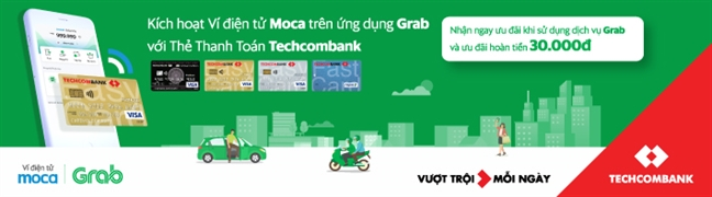 Vi dien tu Moca tren ung dung Grab chinh thuc lien ket voi Techcombank: Gia tang loi ich vuot troi cho khach hang