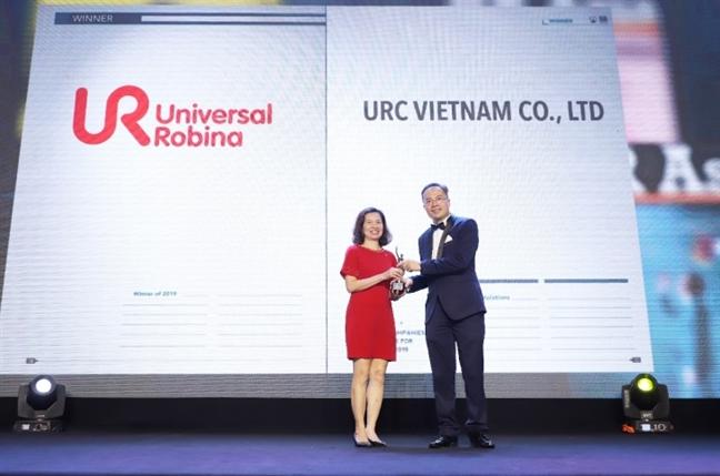 URC Viet Nam dat giai thuong 'Cong ty co moi truong lam viec tot nhat chau A tai Viet Nam 2019'