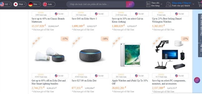 Nguoi Viet ho hung voi Prime Day 2019 du hang My, Duc, Nhat giam gia manh