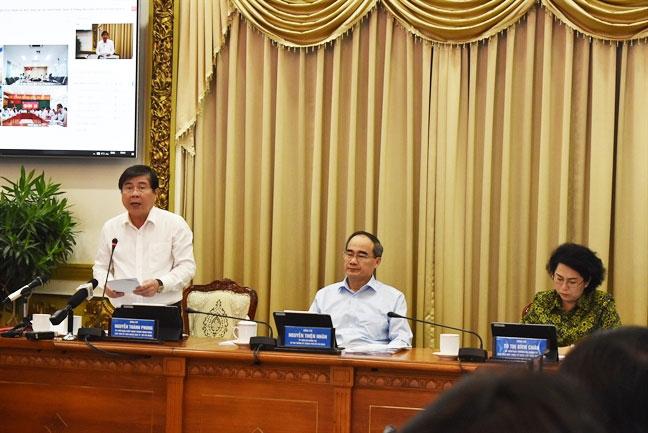 Chu tich UBND TP.HCM Nguyen Thanh Phong 'cam ket' khong co chuyen ngung chi thu nhap tang them