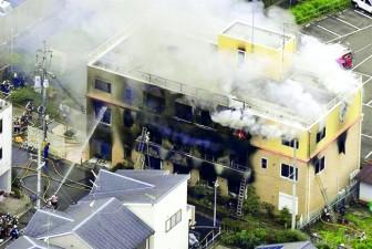 Xưởng phim hoạt hình nổi tiếng ở Kyoto  bị phóng hỏa