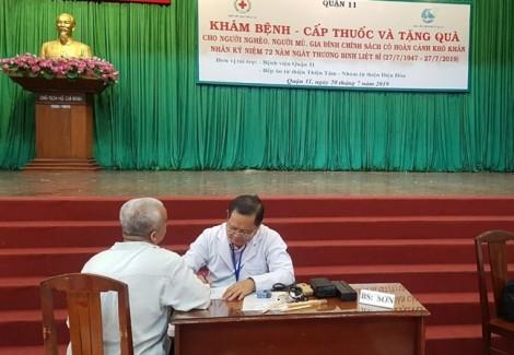 Tổ chức thăm khám và chăm lo sức khỏe cho người nghèo