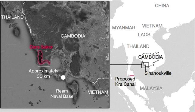 Khu nghi mat Dara Sakor co the thanh can cu  quan su cua Trung Quoc  tai Campuchia