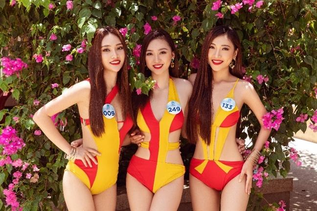 Dan nguoi dep Hoa hau The gioi Viet Nam khoe sac 'nong bong mat' tai Da Nang