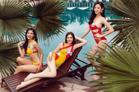 Dàn người đẹp Hoa hậu Thế giới Việt Nam khoe sắc 'nóng bỏng mắt' tại Đà Nẵng