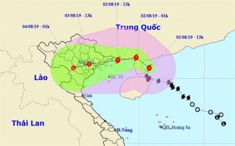 15h ngày 2/8: Bão số 3 cách Móng Cái, Quảng Ninh khoảng 95km
