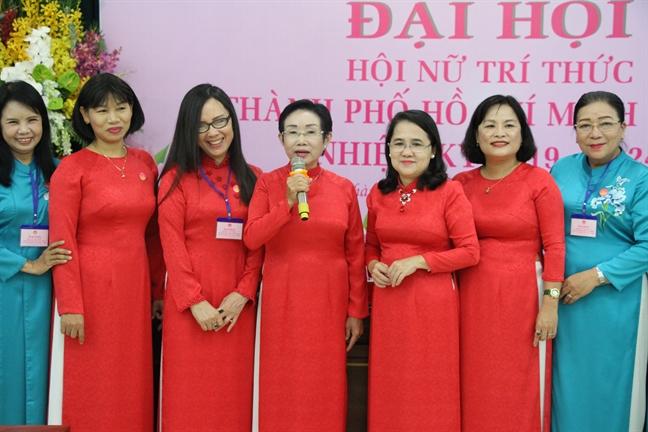 Ba Truong Thi Hien tai dac cu Chu tich Hoi Nu tri thuc TP.HCM nhiem ky 2019 - 2024