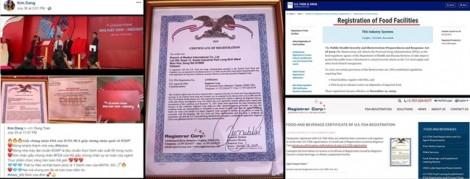 Trà giảm cân Goleandetox lại lừa người mua bằng giấy chứng nhận đăng ký từ FDA
