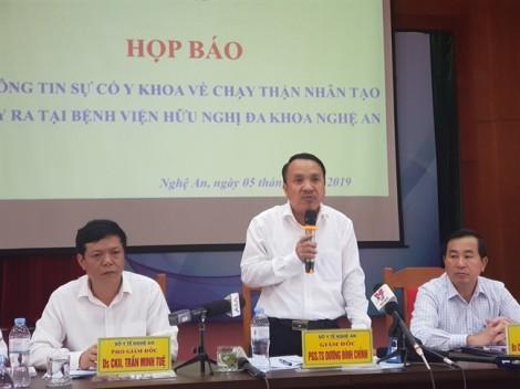 Công bố chính thức nguyên nhân khiến hàng loạt người sốc khi chạy thận ở Nghệ An