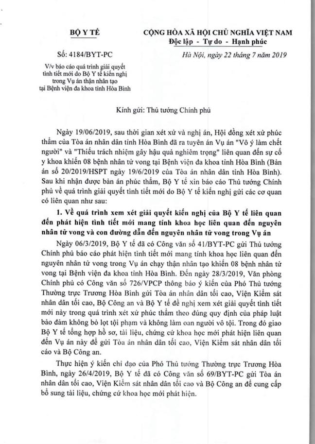Vu bac si Hoang Cong Luong: Bo Y te khang dinh ban an phuc tham la khong thuyet phuc