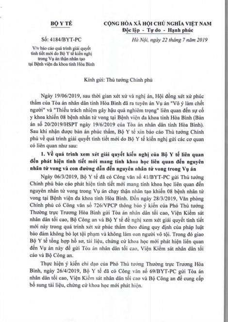 Vụ bác sĩ Hoàng Công Lương: Bộ Y tế khẳng định bản án phúc thẩm là không thuyết phục