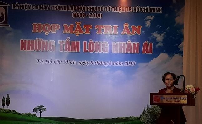 Hoi Phu nu Tu thien TP.HCM, 30 nam tri an nhung tam long
