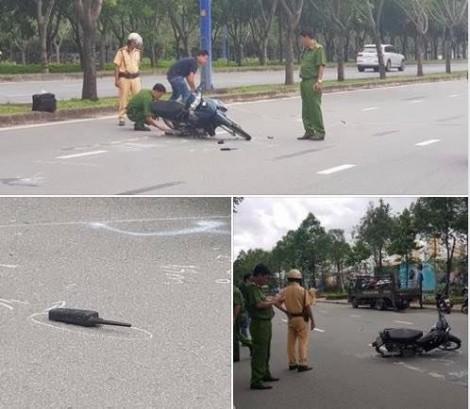 Ra hiệu dừng xe, thiếu tá cảnh sát giao thông bị tông nhập viện