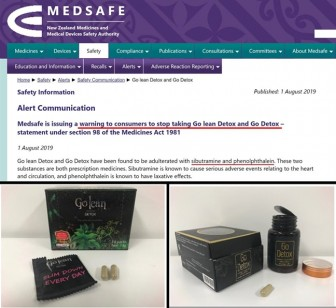 Trà giảm cân Golean Detox tiếp tục bị cấm tại Newzealand vì chứa chất giảm cân siêu tốc