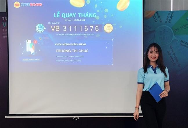 Vietbank cong bo danh sach trung thuong dot 1 - Mobile banking Vietbank Digital