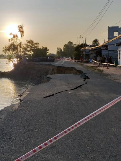 Quốc lộ 91 qua An Giang tiếp tục sạt lở nghiêm trọng