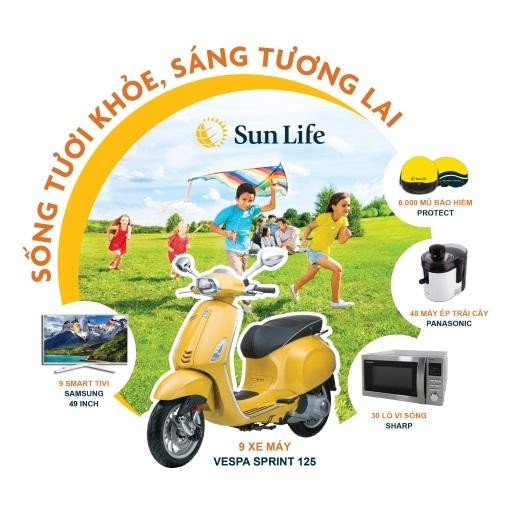 Sun Life tung chuong trinh khuyen mai 'Song tuoi khoe, Sang tuong lai' nham tri an khach hang