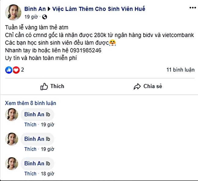 Ham 'mo the ATM duoc tang tien', coi chung  tro thanh toi pham