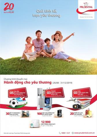 Prudential Việt Nam triển khai chương trình khuyến mãi 'Hành động cho yêu thương'