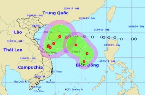 Hai áp thấp nhiệt đới hình thành cùng lúc trên Biển Đông