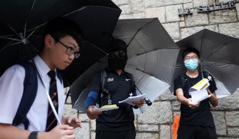 Hàng ngàn học sinh, sinh viên Hồng Kông bãi khóa vào ngày đầu năm học