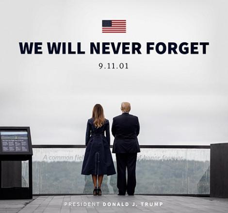 'Khoe' váy in hoạ tiết máy bay đâm vào cao ốc trong ngày 11/9, vợ Tổng thống Donald Trump một lần nữa bị chỉ trích
