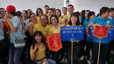 Gần 2.000 người tham gia hội thao 'Phụ nữ khỏe, đẹp, năng động' năm 2019