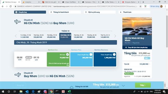 Thu Tu hang tuan, Bamboo Airways mo ve ban chi tu 99.000 dong