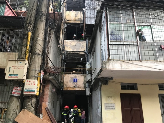 Chay 'chuong cop' tai khu tap the Kim Lien