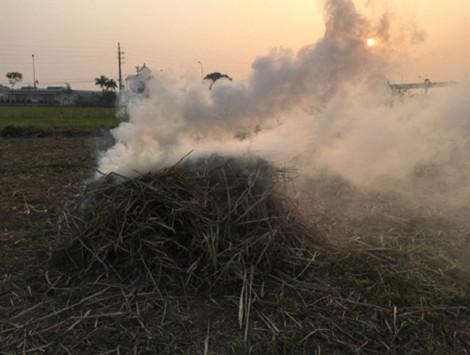 Dân đốt rơm rạ, máy bay hạ cánh xuống Nội Bài gặp khó khăn