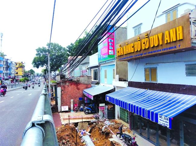 Cau vuot tram ty Nguyen Kiem - Nguyen Thai Son con lau moi xong