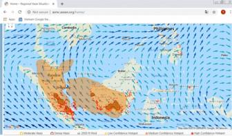 Khói mù cháy rừng từ Indonesia làm ô nhiễm không khí miền Nam Việt Nam